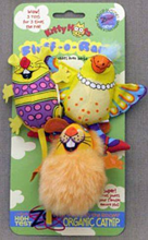 """Заказать Fat Cat Fluff-o-Rama 3 pc Toy / Мягкая игрушка для кошек """"Три мягкие зверушки"""" по цене 840 руб"""