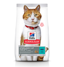 Hills Science Plan Sterilised Cat / Сухой корм Хиллс для Стерилизованных кошек и Котят от 6 месяцев Тунец