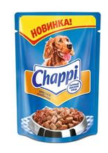 Заказать Chappi / Паучи для собак Мясное изобилие Цена за упаковку по цене 360 руб