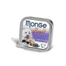 Monge Dog Fruit Turkey / Влажный корм Консервы Монж Фрукт для взрослых собак Индейка с Черникой (цена за упаковку)