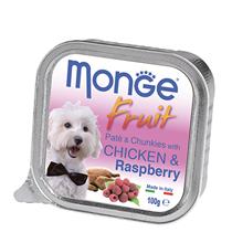 Monge Dog Fruit Chicken / Влажный корм Консервы Монж Фрукт для взрослых собак Курица с Малиной (цена за упаковку)