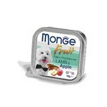 Monge Dog Fruit Lamb / Влажный корм Консервы Монж Фрукт для взрослых собак Ягненок с Яблоком (цена за упаковку)