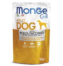 Monge Dog Grill Chicken / Влажный корм Паучи Монж Гриль для взрослых собак Курица с Индейкой (цена за упаковку)