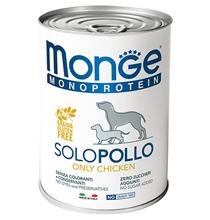 Monge Dog Monoproteico Solo Chicken / Влажный корм Паштет Монж Монопротеиновый для взрослых собак Курица (цена за упаковку)