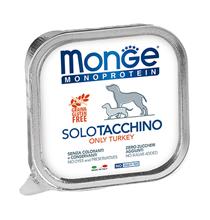 Monge Dog Monoproteico Solo Turkey / Влажный корм Паштет Монж Монопротеиновый для взрослых собак Индейка (цена за упаковку)