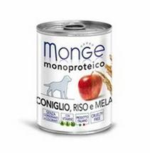 Заказать Monge Dog Monoproteico Fruits / консервы для собак паштет из кролика с рисом и яблоками Цена за упаковку по цене 6530 руб