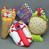 "Fat Cat Snacklers Toy Mini / Игрушка Фэт Кэт мягкая для собак ""Звери - закуски"""