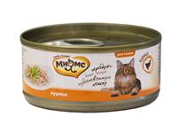 Мнямс Влажный корм Консервы для кошек Курица в желе (цена за упаковку)
