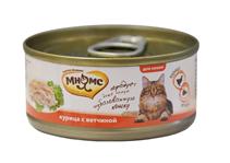 Мнямс Влажный корм Консервы для кошек Курица с Ветчиной в желе (цена за упаковку)