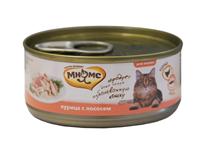 Мнямс Влажный корм Консервы для кошек Курица с Лососем в желе (цена за упаковку)