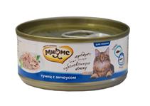 Мнямс Влажный корм Консервы для кошек Тунец с Анчоусами в желе (цена за упаковку)