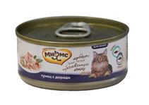 Мнямс Влажный корм Консервы для кошек Тунец с Дорадо в желе (цена за упаковку)
