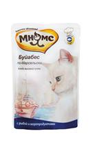 Мнямс Влажный корм Паучи для кошек Буйабес по-Марсельски Рыба с морепродуктами (цена за упаковку)