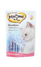Мнямс Влажный корм Паучи для кошек Оссобуко по-Милански Ягненок с рисом (цена за упаковку)