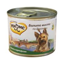 Мнямс Влажный корм Консервы для собак Мелких пород Болито мисто по-Веронски Дичь с картофелем (цена за упаковку)