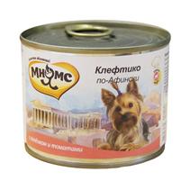 Мнямс Влажный корм Консервы для собак Мелких пород Клефтико по-Афински Ягненок с томатами (цена за упаковку)