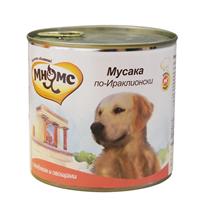 Мнямс Влажный корм Консервы для собак Средних и Крупных пород Мусака по-Ираклионски Ягненок с овощами (цена за упаковку)