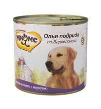 Мнямс Влажный корм Консервы для собак Средних и Крупных пород Олья Подрида по-Барселонски Мясное ассорти с морковью (цена за упаковку)