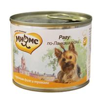Мнямс Влажный корм Консервы для собак Мелких пород Рагу по-Ланкаширски Куриное филе с травами (цена за упаковку)