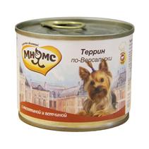 Мнямс Влажный корм Консервы для собак Мелких пород Террин по-Версальски Телятина с ветчиной (цена за упаковку)