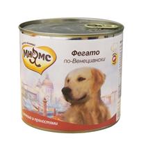 Мнямс Влажный корм Консервы для собак Средних и Крупных пород Фегато по-Венециански Телячья печень с пряностями (цена за упаковку)