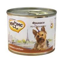 Мнямс Влажный корм Консервы для собак Мелких пород Фрикасе по-Парижски Индейка c грибами (цена за упаковку)