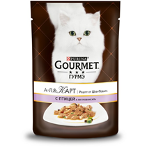 Gourmet A la Carte a la Provenсale / Паучи Гурме А-ля Карт для кошек Домашняя Птица с баклажаном цуккини и томатом (цена за упаковку)