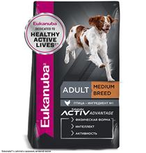 Eukanuba Adult Medium Breed / Сухой корм Эукануба для взрослых собак Средних пород с Курицей