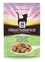 Заказать Hills Ideal Balance Adult Turkey & Vegetables / Паучи для Кошек с Индейкой и Овощами (цена за упаковку) по цене 810 руб
