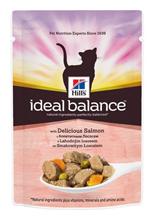 Заказать Hills Ideal Balance Adult Salmon & Vegetables / Паучи для Кошек с Лососем и Овощами (цена за упаковку) по цене 790 руб