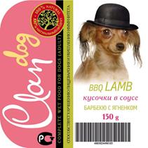 Заказать Clan / Консервы для собак Кусочки в соусе Барбекю с Ягненком Цена за упаковку по цене 1620 руб