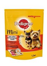 Заказать Pedigree Mini / Сухой корм для взрослых собак Миниатюрных пород Говядина по цене 60 руб