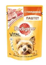 Заказать Pedigree / Паучи для взрослых собак Мелких пород паштет Говядина Цена за упаковку по цене 470 руб