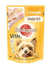 Pedigree / Паучи Педигри для взрослых собак Мелких пород паштет Курица (цена за упаковку)