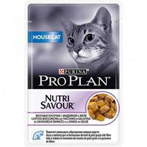 Purina Pro Plan Cat NutriSavour Housecat Turkey / Паучи Пурина Про План для Домашних кошек Индейка в желе (цена за упаковку)