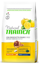 Trainer Natural Small & Toy Adult / Сухой корм Трейнер для взрослых собак Мелких и Миниатюрных пород Сыровяленая ветчина и Рис