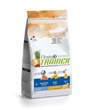Заказать Сухой корм Trainer Fitness3 No Gluten Medium / Maxi Adult Salmon and Maize без глютена для взрослых собак средних и крупных пород с лососем и кукурузой по цене 1580 руб