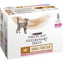 Purina Pro Plan Veterinary Diets NF Renal Function Salmon / Лечебные паучи Пурина Про План Ветеринарная Диета Ренал для кошек Заболевание почек Лосось (цена за упаковку)