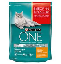 Purina One / Сухой корм Пурина Уан для Взрослых кошек Курица и цельные злаки