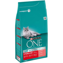 Purina One / Сухой корм Пурина Уан для Стерилизованных кошек и Кастрированных котов Лосось и пшеница