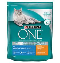 Purina One / Сухой корм Пурина Уан для Пожилых кошек старше 11 лет Курица и цельные злаки