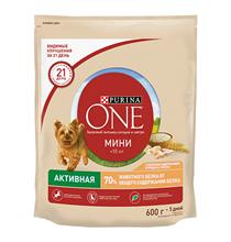 Purina One Dog Мини Активная / Сухой корм Пурина Уан для собак Мелких пород весом от 1 до 10 кг Курица рис