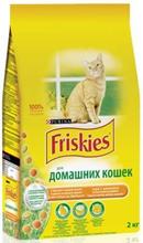 Заказать Friskies / Сухой корм для Домашних кошек Курица и Садовая Зелень по цене 80 руб