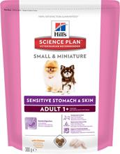 Заказать Hills Science Plan Small & Miniature Adult Sensitive Stomach & Skin / Сухой корм для собак Мелких и Миниатюрных пород с Чувствительным пищеварением Курица по цене 200 руб