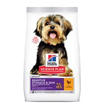 Hills Science Plan Small & Mini Adult Sensitive Stomach & Skin / Сухой корм Хиллс для собак Мелких и Миниатюрных пород с Чувствительным пищеварением Курица