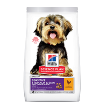 Hills Science Plan Small & Miniature Adult Sensitive Stomach & Skin / Сухой корм Хиллс для собак Мелких и Миниатюрных пород с Чувствительным пищеварением Курица