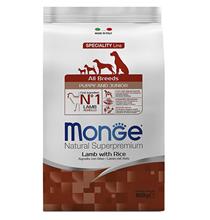 Monge Dog Speciality Puppy & Junior Lamb & Rice / Сухой корм Монж Спешиалити для Щенков всех пород Ягненок с рисом и картофелем