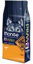 Заказать Monge Bwild Dog Ostrich / корм для взрослых собак всех пород с мясом страуса по цене 1030 руб