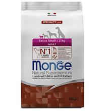 Monge Dog Speciality Extra Small Lamb & Rice / Сухой корм Монж Спешиалити для взрослых собак Миниатюрных пород Ягненок с рисом и картофелем