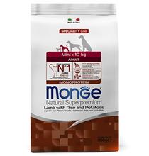 Monge Dog Speciality Adult Mini Lamb & Rice / Сухой корм Монж Спешиалити для взрослых собак Мелких пород Ягненок с рисом и картофелем